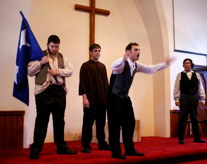 "Scene from Marion Johnson's ""Duncombe Rebellion 1837"".  Performed in Wardsville, Ontario. June 20, 2009"