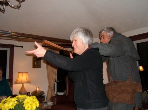 William Caldwell Sr., Caldwell Ranger, demonstrates battle formation War of 1812-14.